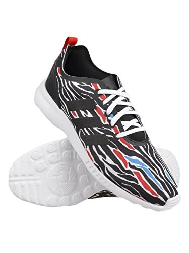 adidas Originals Womens ZX Flux W Lace-Up Fashion Sneaker Zebra Smooth yYp77