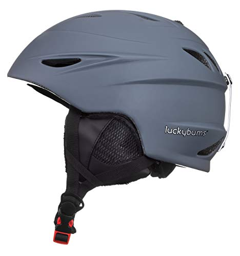 Lucky Bums Alpine Men Women Audio Chip Ready Ski Helmet, Charcoal, Small (Renewed)