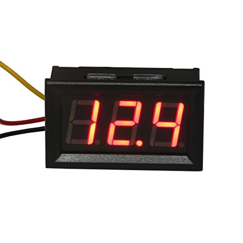 "DROK 0.56"" Digital DC Voltmeter Panel Volt Meter Gauge LED Display 0-300V Voltage Tester"