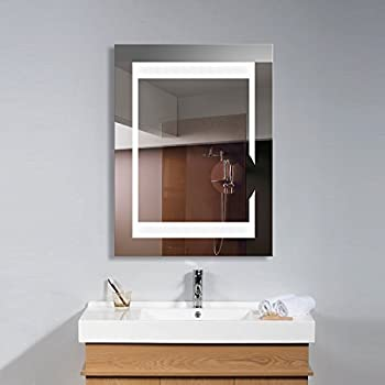 Amazon Com 24 X 32 In Vertical Led Bathroom Silvered