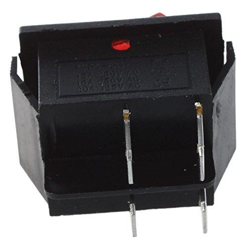 TOOGOO(R) 16A/250V 20A/125V AC Red Neon Light ON/OFF DPST Boat Rocker Switch 5 Pcs by TOOGOO(R) (Image #4)