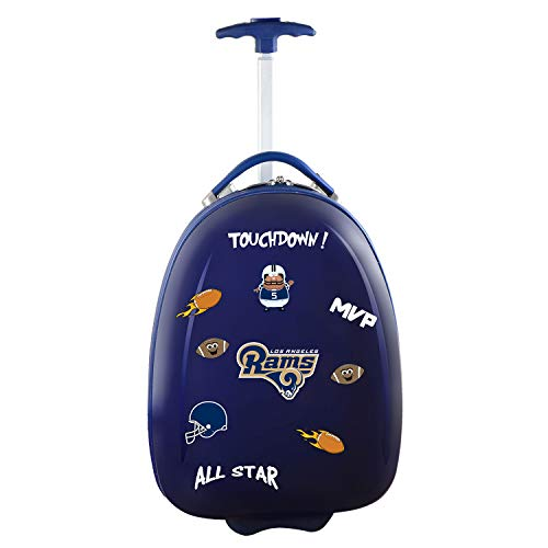 Denco NFL Los Angeles Rams Kids Lil' Adventurer Luggage Pod, 18-inches, Navy