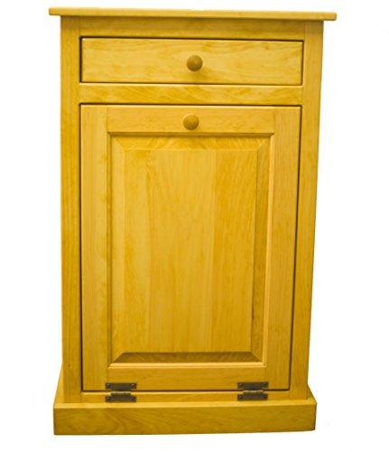 Pine Tilt Out Trash Bin (Golden -