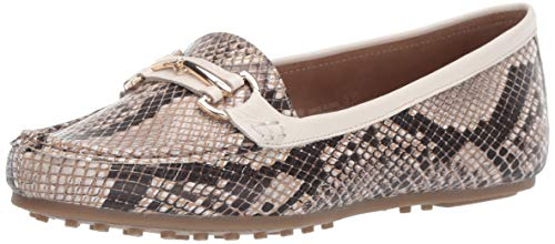 Aerosoles Women's Drive Along Style Loafer, Tan Snake, 7 M US