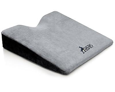 Premium Therapeutic Grade Car Wedge Cushion - seat cushion for car - wedge cushion for car - auto seat cushion - firm driving seat cushion to increase height