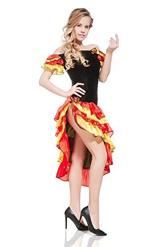 Gypsy Esmeralda Spanish Flamenco Senorita ...  sc 1 st  Funtober & Gypsy Esmeralda Spanish Flamenco Senorita Latina DressUp Halloween ...