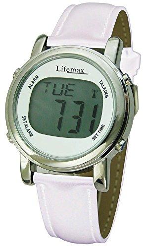 Lifemax Chic Atomic Talking Watch - White Design by MaxLife