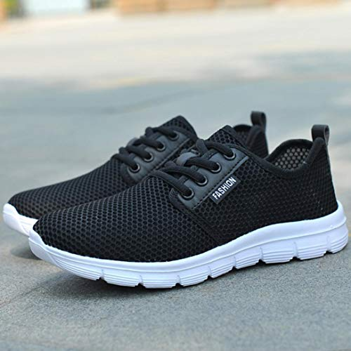 Women Black Lace Mesh Outdoor Running Casual Shoes shoes22 Riou Sports Comfortable Up Soles wd1fq7fX4x
