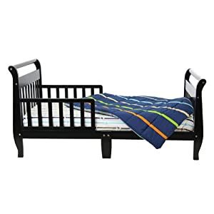 Dream On Me, Classic Sleigh Toddler Bed, Black