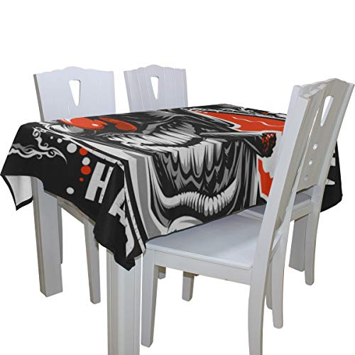 Fenda Evil Scary Clown Monster 100% Polyester Tablecloth