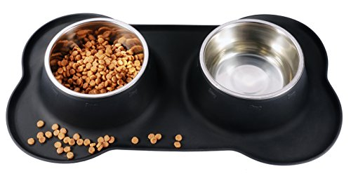 BONVE-PET-Dog-Bowl--Stainless-Steel-Dog-Food-Water-Bowl-with-No-Spill-Silicone-Mat-Best-Dog-Bowls-for-Feeding-Dogs-Cats-Puppies-298oz-Set-of-2
