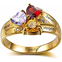 Lam Hub Fong Personalized 3-Birthstone Mother's Ring