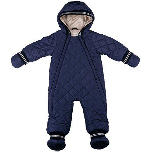 Oceankids Baby Boys Navy Blue Winter Coat Newborn Overall Onesie Down Snowsuit 9-12 Months
