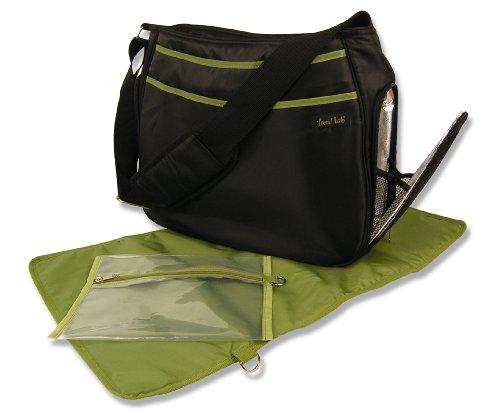 Avocado Diaper Bag - Trend Lab Ultimate Diaper Bag, Black/Avocado Green
