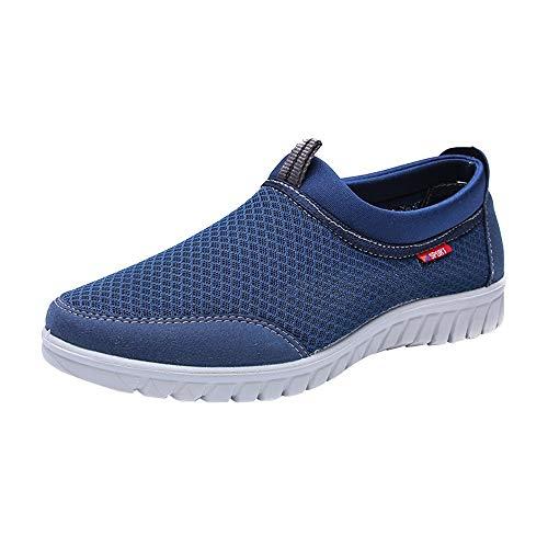 (Corriee Men's Casual Shoes Men's Confortable Lightweight Soft Bottom Non-Slip Breathable Mesh Sneaker Shoes)