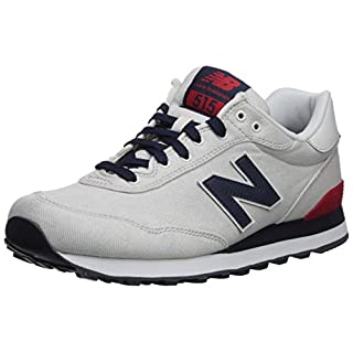 New Balance Men's 515 V1 Sneaker, Nimbus Cloud/NB Navy/RED, 17 D US