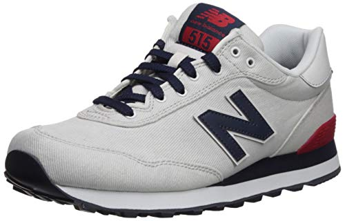 New Balance Men's 515v1 Sneaker, Nimbus Cloud/NB Navy/RED, 12 D US