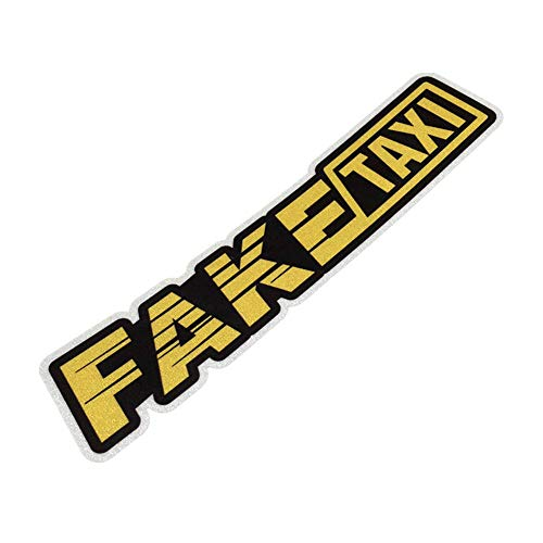 Langersun 2PCS Car Styling Decals Vinyl Bumper Fake Taxi Stop Anywhere Motor Bicycle Sticker 18x3.8cm