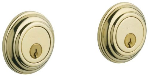 (Baldwin Estate 8232.003 Low Profile Traditional Double Cylinder Deadbolt in Polished Brass)