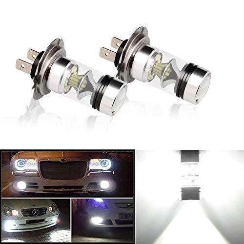 H4 18W LED 3 COB DC 12V Blanc Moto Phare 6500K Salut//Lo Faisceau Haute Puissance Super Bright Light Bulb Regard