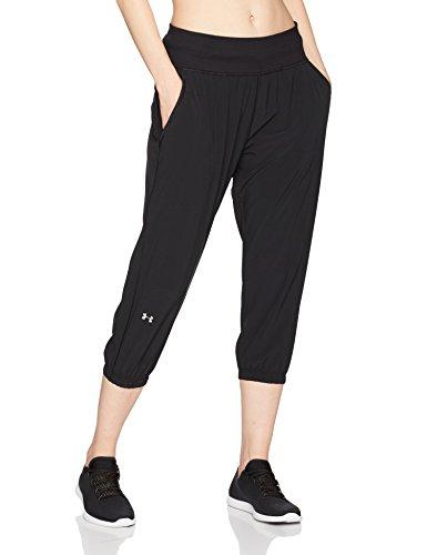 Under Armour Women's Heatgear Sunblock 50 Pants, Black/Metallic Silver, Medium
