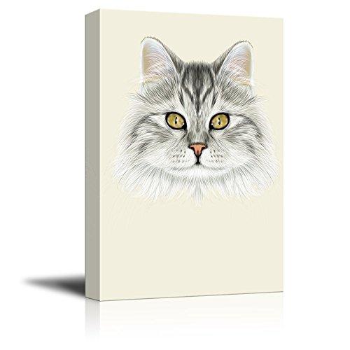 Watercolor Style Cute Cat