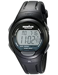 Timex Men's T5K608 Ironman Essential 10 Full-Size Black/Gray Resin Strap Watch