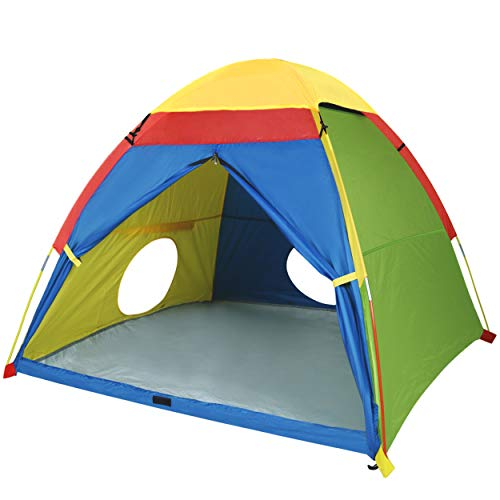 """MountRhino Kids Play Tent & Playhouse,Kids Pop Up Tent, Children Camping Playhouse, Indoor/Outdoor Children Playhouse for Boys Girls, Large Space& Rainbow Color - 60""""x60""""x47"""" (Large Space)"""
