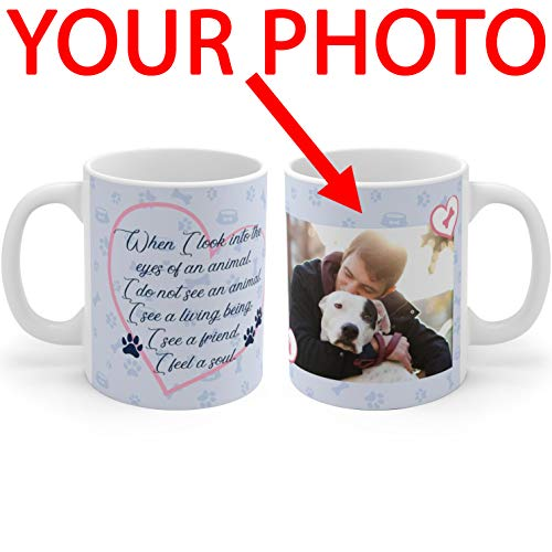 Personalized Coffee Mug for Dog Lovers - Add Your Photo/Logo to Customized Travel Mug - Great Quality for Gift for Pet Lovers