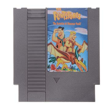 Video Game Card - Video Game Cartridge - The Flintstones 2 - The Surprise at Dinosaur Peak 72 Pin 8 Bit Game Card Cartridge for NES (8 Bit Card Game) ()