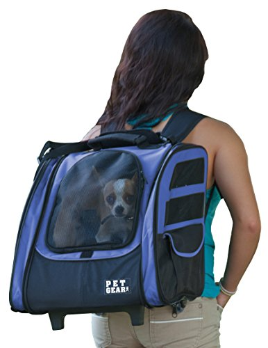 Pet Gear I-GO2 Traveler Roller Backpack for cats and dogs, Dark Lavender (Blue) ()