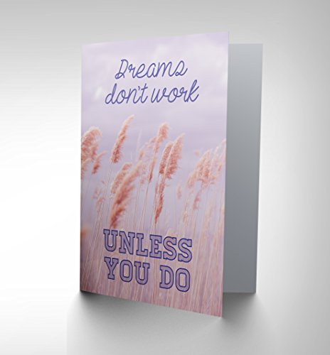 Dream Oil Painting - Wee Blue Coo CARD GREETING QUOTE MOTIVATION DREAMS DON'T WORK CP2310