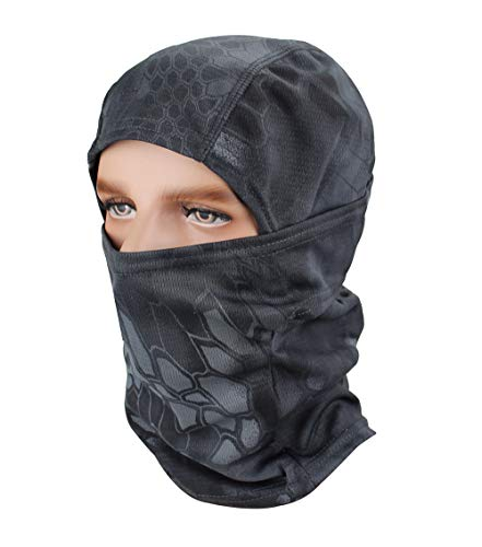 Outdoor Black Ski Mask Camouflage Accessories Fishing Hat Camo Sun Balaclava Motorcycle Masks (Grey) -