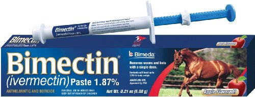 Paste Anthelmintic - Bimectin Ivermectin Paste Horse Wormer (1.87 Ivermectin) Single dose