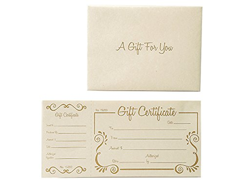 Gold Scroll Deluxe Gift Certificate (100 Pack)