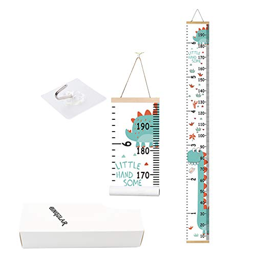 Bingolar Kids Growth Chart, Children Height Chart Growth Wall Chart Height Wall Chart Art Hanging Rulers for Kids Bedroom Nursery Wall Decor Removable Height and Growth Chart(K7.9 x 79in)