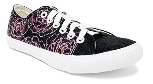 Ann Arbor T-shirt Co. Peony Flower | Cute Flower Gym Tennis Shoes, Floral Fun Stylish Artsy Sneakers