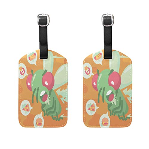Carl McIsaacDoor Fly Hate Swatter Luggage Tags Bag Travel Labels for Baggage Suitcase 2 Pack