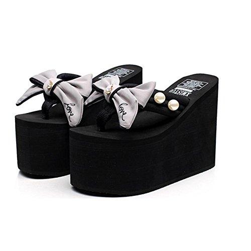 Infradito Infradito Tacco Spesse Infradito da Gray Moda Pantofole Sandali Estate Scarpe CHENGXIAOXUAN più Spiaggia Pantofole Pantofole 12cm Casual Sandali E Donna da Pantofole CnwvvqRXU