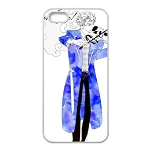 Blue guitar gentleman Cell Phone Case for Iphone 5s