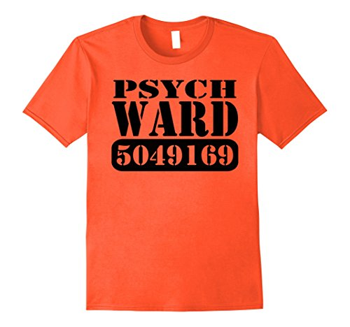 Halloween Costume Ideas Best Friend (Mens Psych Ward Prisoner Inmate Jail Halloween Costume T-shirt 3XL Orange)