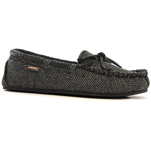Sabrina Moccasin Shoe Moc Women's Charcoal Lamo Chestnut II 7wx5OXXCq
