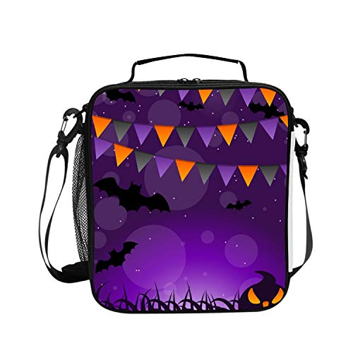 Pumpkins And Hanging Halloween Lunch Box Insulated Lunch Bag for Men and Women Meal Prep Lunch Tote Boxes for Kids/Adults ()
