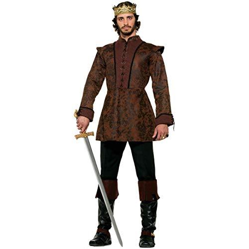 Forum Novelties Men's Medieval King Costume Coat, Brown, Standard -