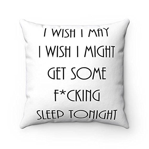 Insomnia - Funny Mom Gifts - Funny Pillows - Gifts For College Student - Dorm Room Decor - Gifts for Daughter From Mom - Couch Pillow