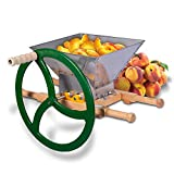 Fruit & Apple Crusher for Wine & Cider Pressing - Manual Juicer Grinder & Fruit Scatter - Heavy Duty Stainless Steel Cutting Blades & Hopper - By Green Max Products