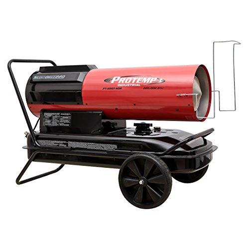 Pro-Temp PT-220T-SDR Silent Drive Kerosene/Diesel Forced Air Heater with Thermostat, 220,000 BTU (Kerosene Diesel Forced Air Heater)