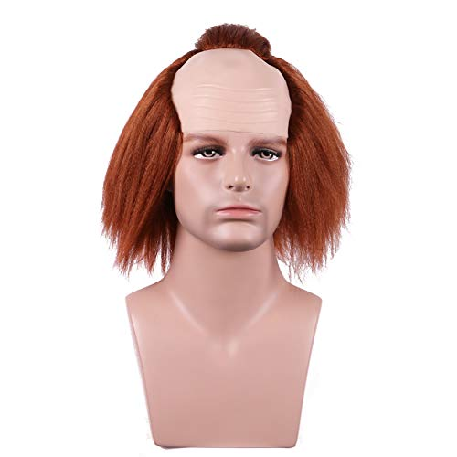 (Yilys Halloween Brown Bald Head Cosplay Wigs For Man and)