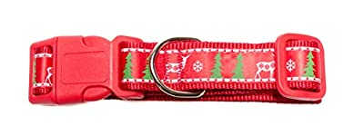 ONE DAY SALE - Christmas Dog Collar for Medium to Large Dog By Pet's Mum Offer Adjustable Padded Holiday Pet Collar for Dogs Heavy Duty   3 Bonus Bark Control E-book   Your Dog Deserve It!