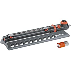 Gardena 1979 Aquazoom 3900-Square Foot Oscillating Sprinkler with Fully Adjustable Width Control, Flow Control and Water Timer